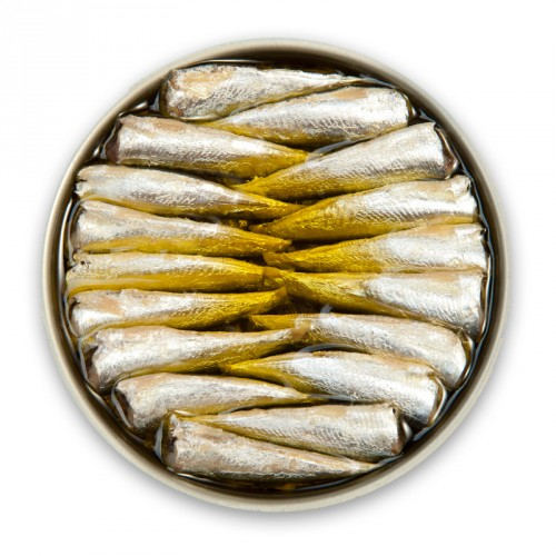 Small Hot Sardines in Olive Oil