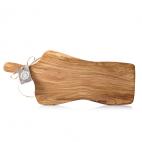 Tabla artesanal irregular de madera de olivo