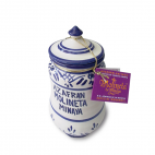 Saffron handmade pottery jar
