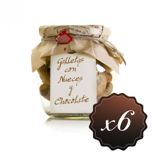 Galletas con nueces y chocolate (pack de 6)
